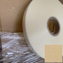 Kötegelő/övező szalag fólia PETP-PE 25mm/850m, áttetsző, 76mm cséve