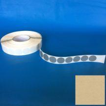 Rag.szalag szövet kör 30 mm szürke, 2.000 db/tekercs