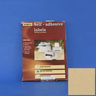 Etikett címke,  25,4x10/100