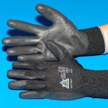 Védőkesztyű PU tenyérmártott PrimeSource, méret: 10/XL, fekete, 10 pár/csomag