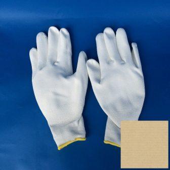 Kesztyű (PU tenyérmártott), méret: XL, fehér