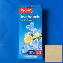 Jégkockakészítő tasak PACLAN, szív alakú, összerázható