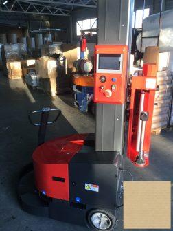 Sztreccsfóliázó robot önjáró 250%-300% motoros előnyújtással, 2,8 méterig!