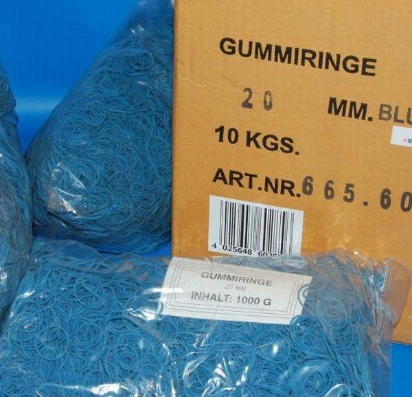 Gumigyűrű 20/1 mm kék