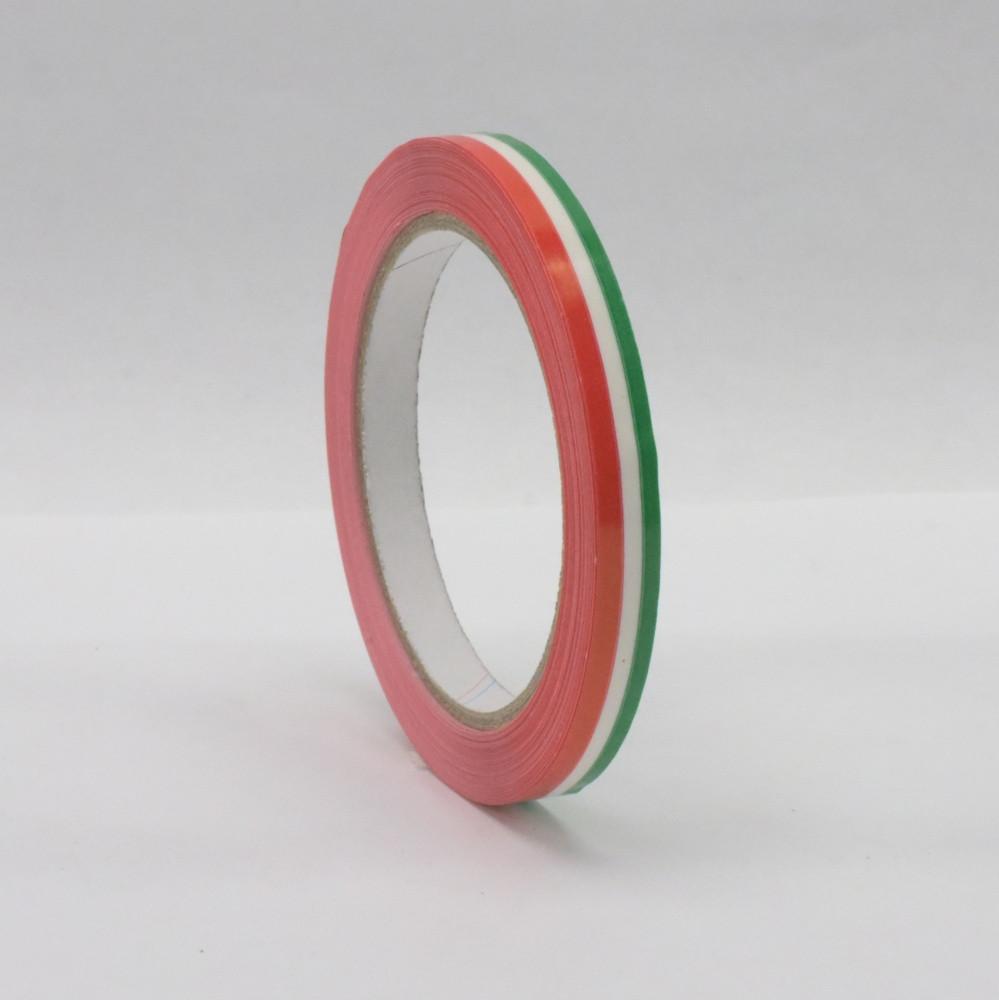 Rag.szalag 9mm/66m PVC nemzetiszínű