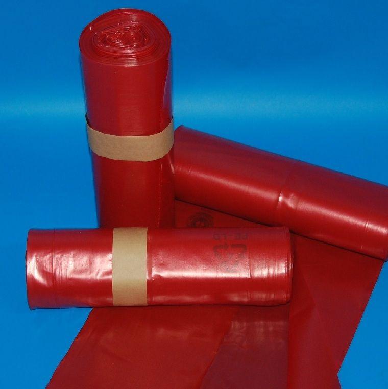 Zsák 575x1000mm/62my LDPE piros